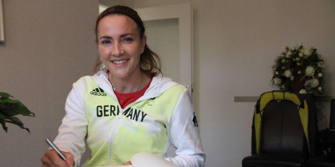 Die 38-jährige Goldmedaillen-Gewinnerin Edina Müller